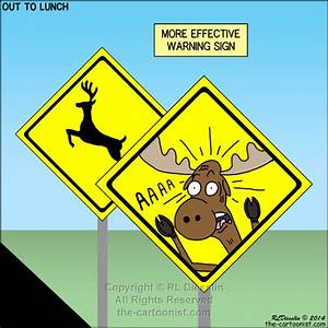 More Effective Deer or Moose Crossing Sign - OTL Cartoon ...