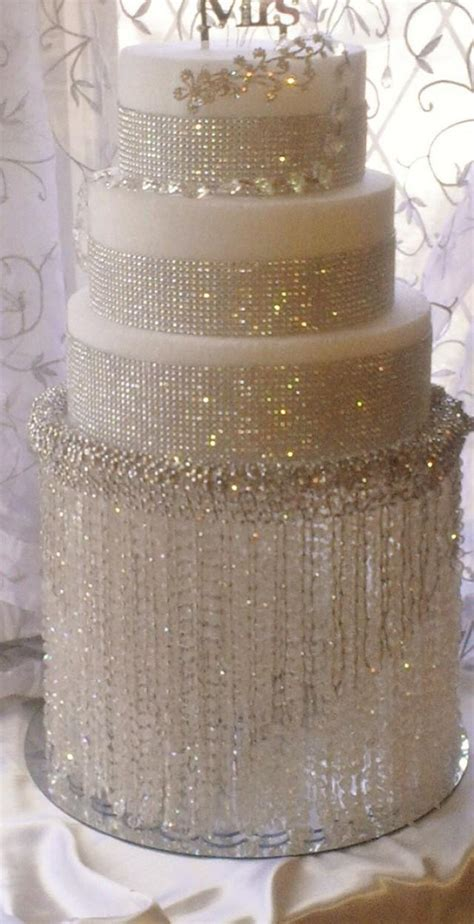 bling wedding cakes wedding cake stand with crystals chandelier acrylic
