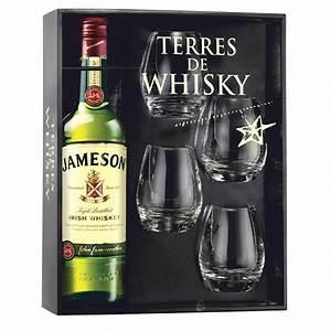 Coffret Verre Whisky : coffret terres de whisky jameson irish whiskey 70 cl 4 verres ~ Teatrodelosmanantiales.com Idées de Décoration