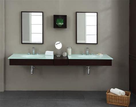 Modern BLOX 86 inch Floating Bathroom Vanity Set, Solid