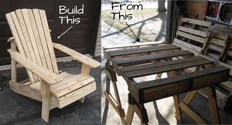 pallet adirondack chair  doesnt
