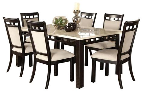 HD wallpapers 7 piece white dining table