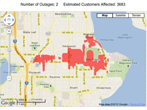 seattle city light power outage map two blown transformers heard to be blamed for ne seattle