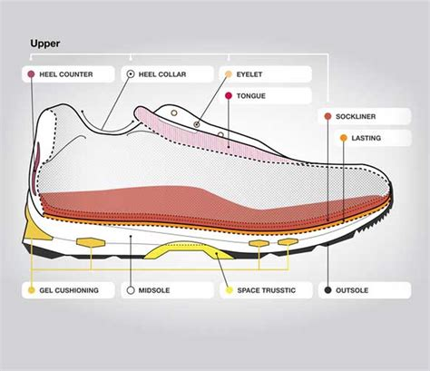Diagram Of Heel Structure by Anatomy Of A Running Shoe Asics South Africa