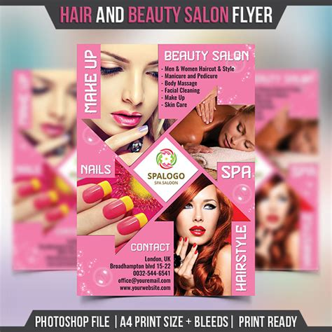 Salon Brochure Templates Free by Hair And Salon Flyer Template Landisher