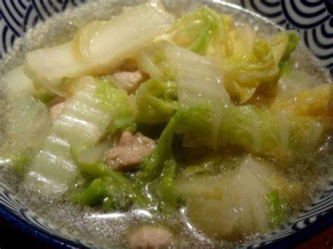 recettes de chou chinois et soupe au chou