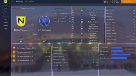 esports manager  windows linux game indie db