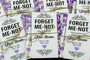 Personalized Memorial Seed Packets – Gloria's Garden