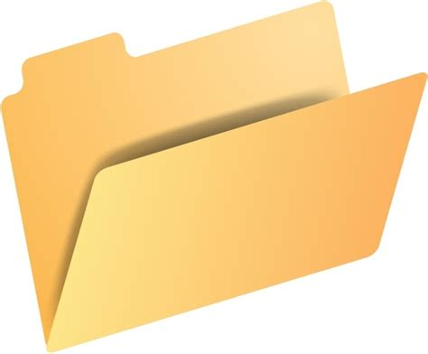 Folder Icon Free Vector In Open Office Drawing Svg ( .svg