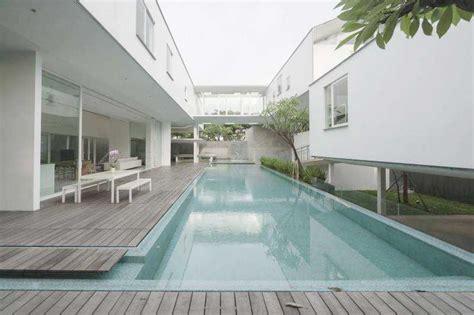 desain kolam renang keren  rumah mewah  arsitag