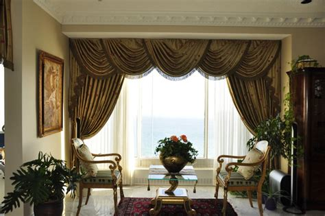Swag Curtain Ideas For Living Room Drapery Curtains And Window Coverings Traditional Living Room Toronto By Stanton Interiors