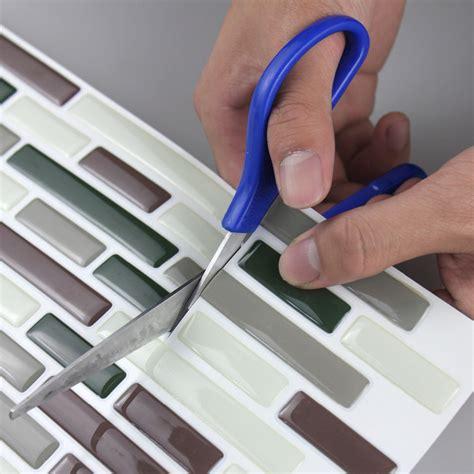 peel and stick faux glass tile backsplash 3d adhesive faux tile vinyl peel and stick tiles subway