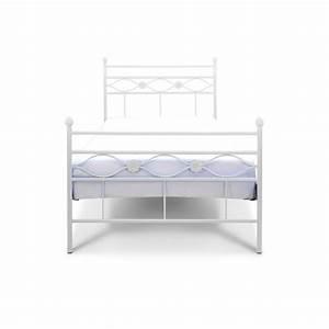 Metallbett 90x200 Weiß : floris wei es metalbett 90x200 cm f r die kleine prinzessin notoria ~ Indierocktalk.com Haus und Dekorationen