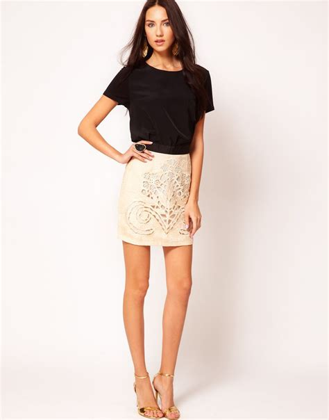exception mini skirt  alice mccall