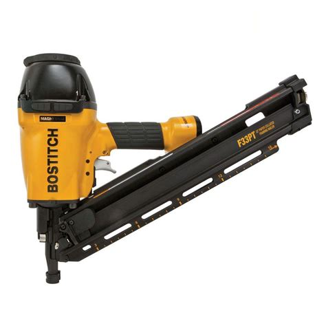 Bostitch Floor Nailer Home Depot by Bostitch 33 Degree Paper Framing Nailer F33pt The