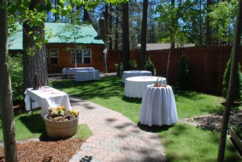 lake tahoe wedding venues beautiful garden setting at a