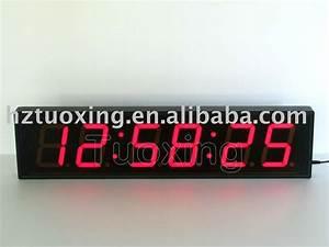 Horloge Murale Led : 4 polegada 6 digit g ant led horloge murale image horloge murale id de produit 348116132 french ~ Teatrodelosmanantiales.com Idées de Décoration