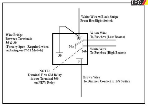 High Low Dimmer Relay Volt Prong Parts