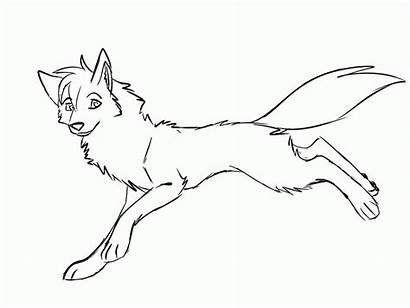 Wolf Coloring Pages Wolves Anime Female Realistic