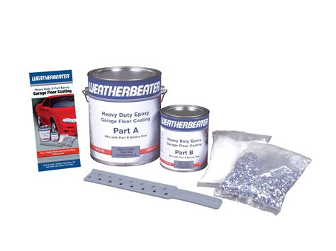 weatherbeater epoxy garage floor coating silver gray