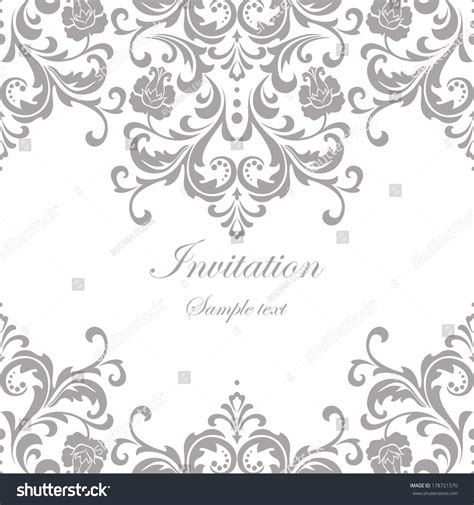vector wedding card invitation floral ornament stock