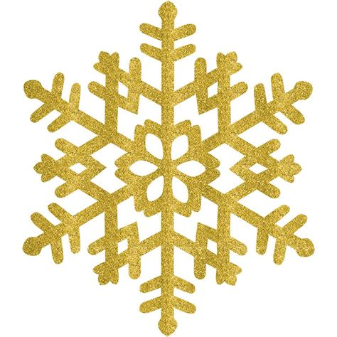 Transparent Background Gold Snowflake Png by Amscan 15 In Gold Glitter Snowflake 4 Pack 190493 The