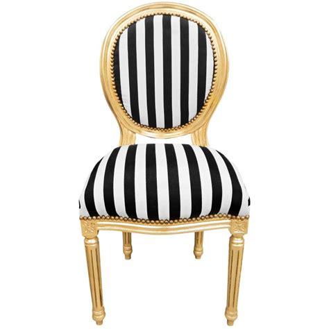 chaise noir et blanc chaise de style louis xvi tissu é noir et blanc et bois doré
