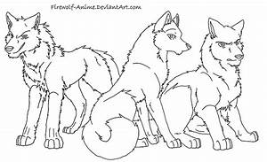 Anime Wolf Coloring Cake Ideas and Designs