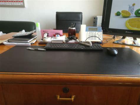 custom  size pu leather desk pad solid color  raypad