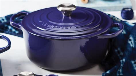 le creuset signature cast iron  dutch oven  quart indigo cutlery