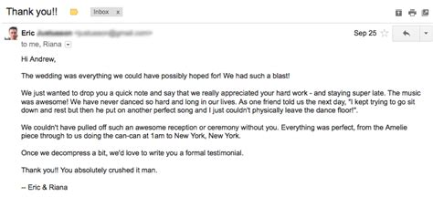 thank you email best thank you letter