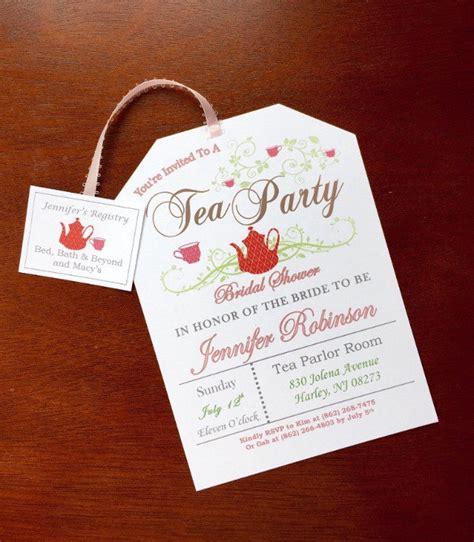 tea party invitation templates psd ai