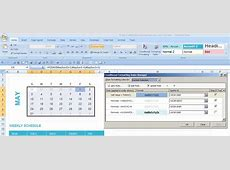 Dynamic monthly excel calendar Super User