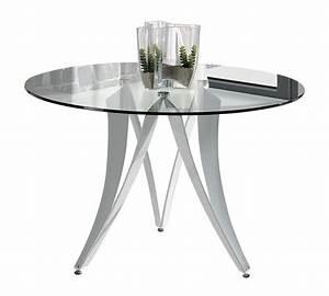 Table Verre Ronde : table ronde verre design moderne accueil design et mobilier ~ Teatrodelosmanantiales.com Idées de Décoration