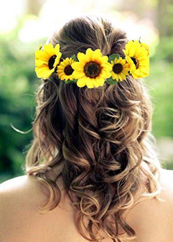 bosheng sunflower crown sunflower hair wreathsunflower