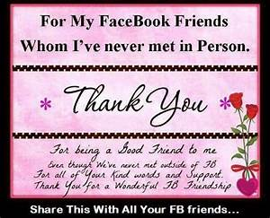 Funny Facebook Status: Thankful for facebook friends quote