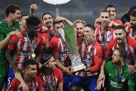 Atletico madrid reshuffle for the final push. Atletico Madrid trashes Marseille 3 - 0, wins Europa - All Naija Entertainment