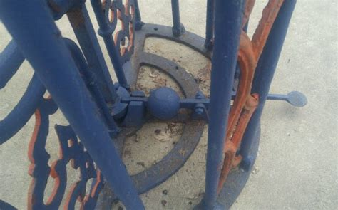 antique  bailey salford cast iron turnstile baseball