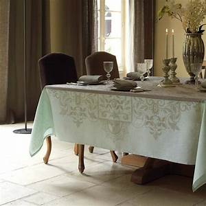 Nappe Jacquard Français : nappe venezia beige cendr 100 lin nappes la table ~ Teatrodelosmanantiales.com Idées de Décoration