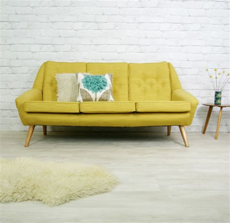 retro settees and sofas vintage retro mid century mustard style sofa settee