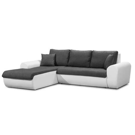 canapé d angle commandeur cloe canapé d 39 angle gauche convertible en simili et tissu