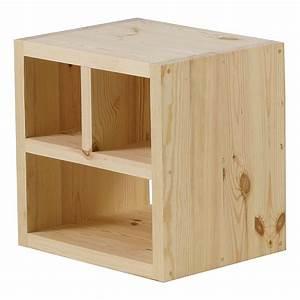 Cube Bois Rangement : cube de rangement pin massif brut 3 niches matendance ~ Edinachiropracticcenter.com Idées de Décoration