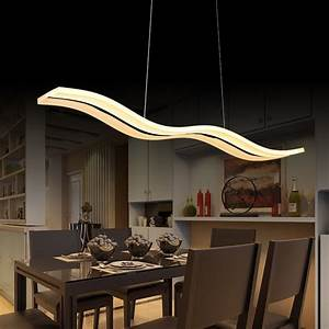 Led, Pendant, Lights, Modern, Kitchen, Acrylic, Suspension, Hanging, Ceiling, Lamp, Dining, Table, Lighting