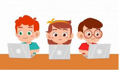 Laptop Anak Using Belajar Coding Boy Happy