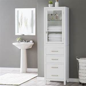 Bathroom Tower Cabinet White