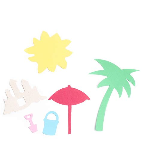 Beach Die Cutouts  Scrapbooking  Craft Supplies