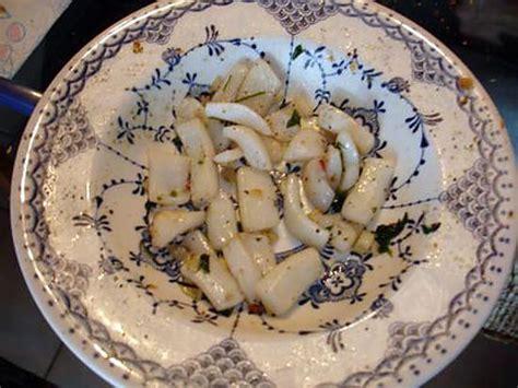 recette de seiche  lail  persil