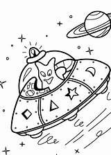 Coloring Ufo Pages Alien Printable Space Spacecraft 4kids Aliens Drawing Ufos Drawings sketch template