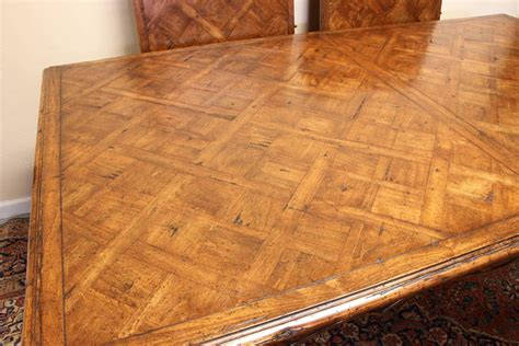 marquetry top french provincial style dining table  guy