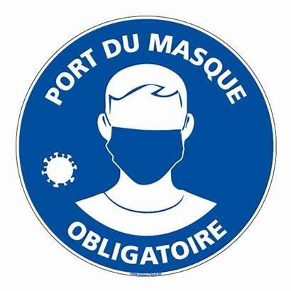 Masque Obligatoire Port Covid Panneau Porte Dans
